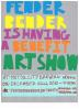 fender bender art show flyer