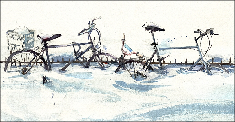 snowbikes by citizensketcher