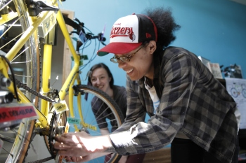 Learning the parts and pieces of the bicicleta. From Bike Check! summer 2012